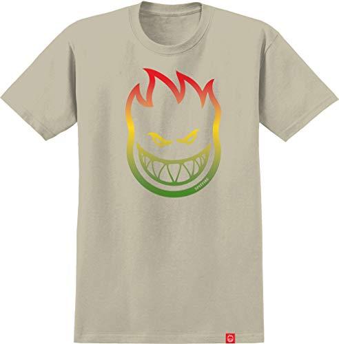 Spitfire Skateboard Shirt Bighead Fade Sand - Grau - Groß