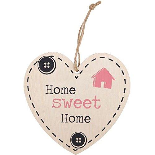 Something Different Home Sweet Home hängendes Herz Schild (Einheitsgröße) (Bunt)