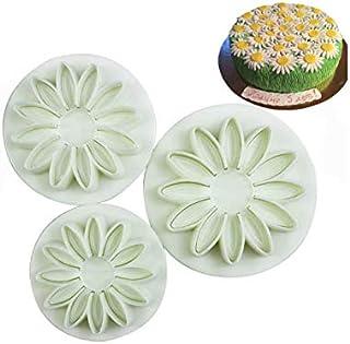 S.Han (22) 3Pcs/Set Sunflower Plunger Cutter Fondant Mould Cookie Cake Bakeware Mold