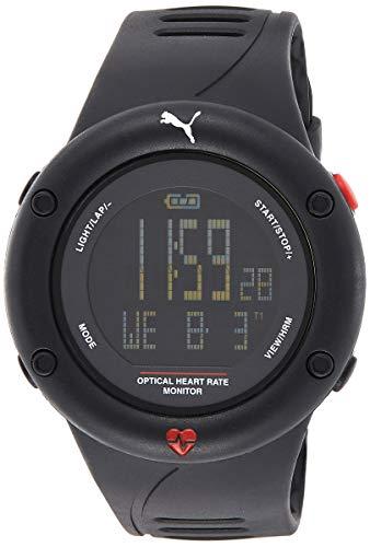 PUMA Herren Digital Quarz Uhr mit Plastik Armband PU911291001