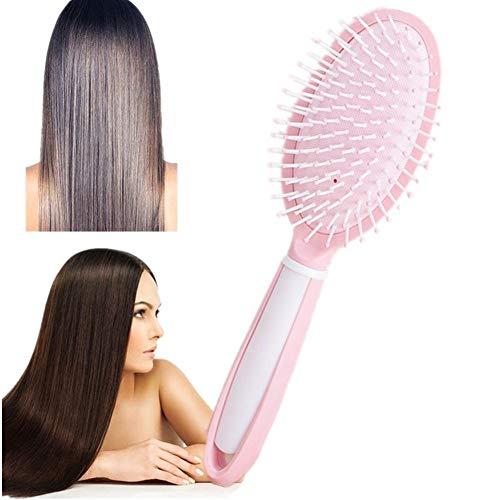 Peigne en bois Elliptique Peigne Personnalité De Coiffure Empêcher les Cheveux Poux La Croissance des cheveux Soins du cuir chevelu Cheveux pink