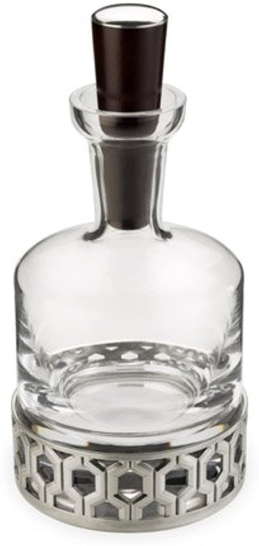 Royal Selangor 014198R Hexagon Whiskey & Spirits Decanter, 25 oz, Pewter