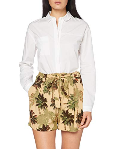 Superdry Damen Desert Stripe Shorts, Braun (Brown Palm 0TU), 38 (Herstellergröße:14)