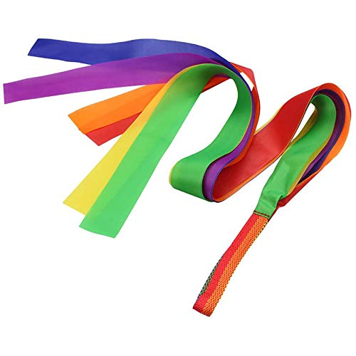 POFET 4pcs Dance Ribbon Gym Rhythmic Art Gymnastic Ballet Streamer Hand Held Kid Toy