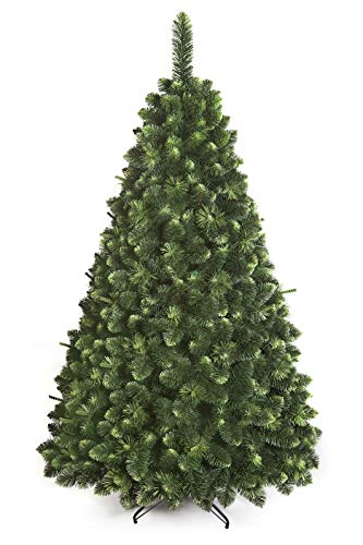DWA ARBOL Navidad Grande en Caja, Bosque Tradicional Verde Lujo con Soporte (220 cm, Young Pine)
