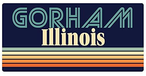 Gorham Illinois 5 x 2.5-Inch Vinyl Decal Sticker Retro Design -  R and R Imports