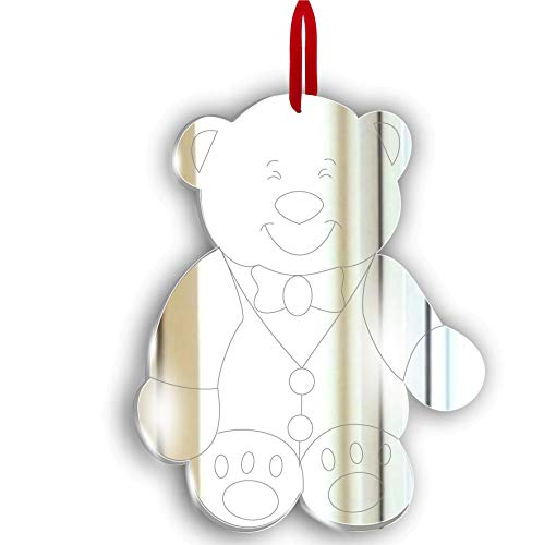 Mirrors-Interiors Personalisd for Teacher Careworker Teaching Assistant- Daddy Bear Xmas Tree Ornament - Personalised Present Gift Tag
