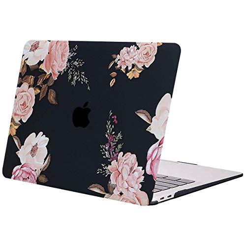 MOSISO Hülle Kompatibel mit MacBook Air 13 2019 2018 Freisetzung A1932 Retina, Plastik Hartschale Case mit Muster Nur Kompatibel mit MacBook Air 13 Zoll mit Touch ID, Rosa Pfingstrose