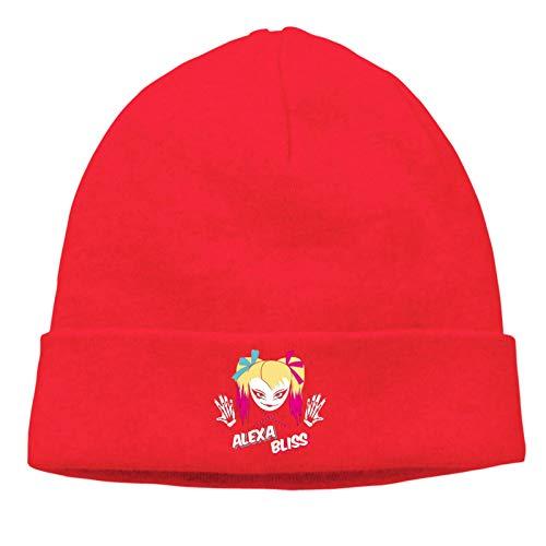 JIANYU Alexa Bliss Caps Cap Gorro de Tejer Gorro de Cobertura cálido para Hombres, Mujeres, Deportes en casa, Rojo