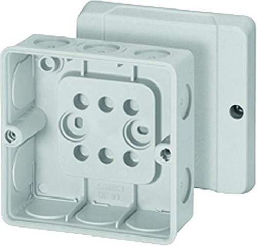 Hensel de 9340 Polystyren Electrical Junction Box – Electrical Junction Boxes (Grey, 98 mm, 52 mm, 98 mm, 117 g)