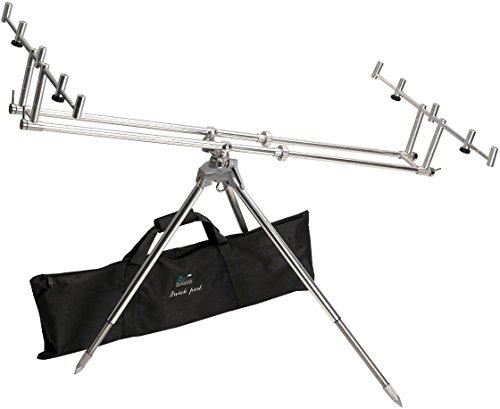 Anaconda Unisex– Erwachsene Quick Pod Dreibein Alu mit Tasche, Silber, Transportmaße: ca. 85 x 20 x 20 cm