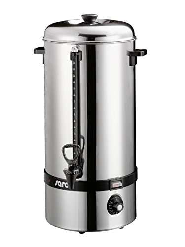 Saro 317-2000 Glühwein- und Heißwasserkessel Modell Hot Drink für Erhitzen und Warmhalten von Glühwein, Wasser, Kaffee, Tee (19 L, 2400 W, Überhitzungsschutz, stufenlos einstellbar, Edelstahl) silber