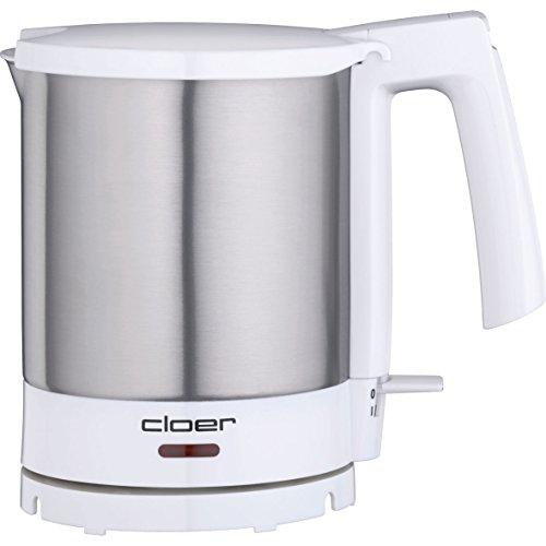 Cloer 4701 Wasserkocher / 2000 W / Trockengeh- und Überhitzungsschutz / innen liegende Füllmengenmarkierung / 1,5 Liter / mattierter Edelstahlbehälter