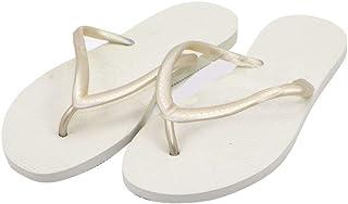 Dupe White Flip Flop Thong Design Slipper for Women