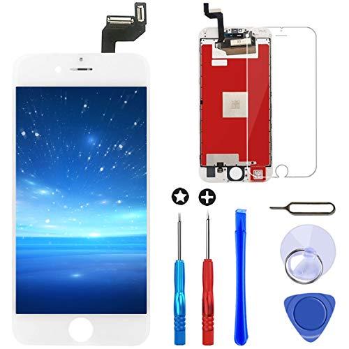 Brinonac Pantalla para iPhone 6s, 4.7' Táctil LCD de Repuesto Ensamblaje de Marco Digitalizador con Herramienta de reparación y Protector de Pantalla (Blanco)