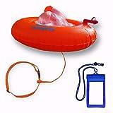 Hotspear Boya De Natación para Aguas Abiertas con Bolsa Estanca Forma Donut, con Dos Cámaras de Aire Acceso ininterrumpido Swimming Dry Bag Buoy