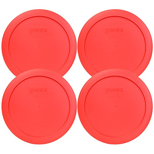 Pyrex 7201-PC Red Round 4 Cup Storage Lid for Glass Bowls