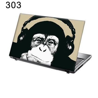 TaylorHe Folie Sticker Skin Vinyl Aufkleber mit bunten Mustern für 15 Zoll 15,6 Zoll (38cm x 25,5cm) Laptop Skin Schimpanse, lustig