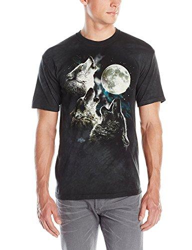 The Mountain Three Wolf Moon Adult T-Shirt, Dark Green, 2XL
