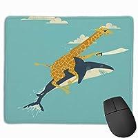 おかしい動物のマウスパッド滑り止めラバーゲーミングマウスパッドコンピューター用ラップトップ30x25 cm