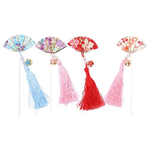 NUOBESTY 4pcs anniversaire pendentifs en forme de cloche de fan chinois de décoration de décoration pour la fête (décoratifs)