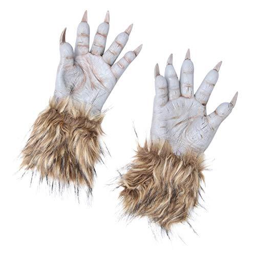 IMIKEYA Guantes de Lobo de Halloween Guantes de Garra de Guantes de Látex Hombre Lobo Monstruo Accesorios de Disfraz de Halloween Accesorios de Cosplay