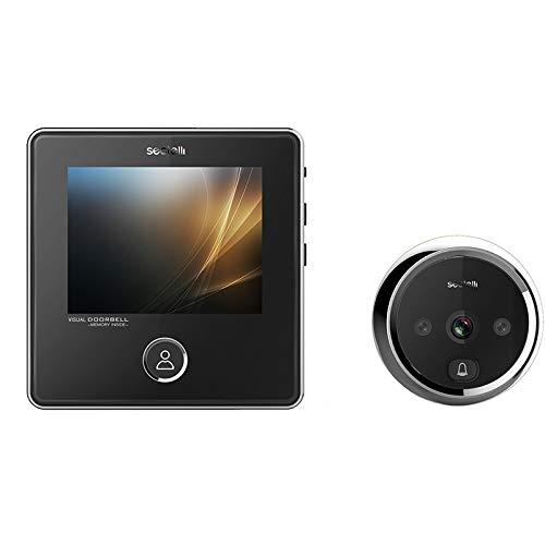 Zhangxia Ring Video doorbell SNDD2 Visor de Puerta de Mirilla de cámara de Seguridad de 3.0 Pulgadas con Pantalla 3.0MP, soporta visión Nocturna infrarroja