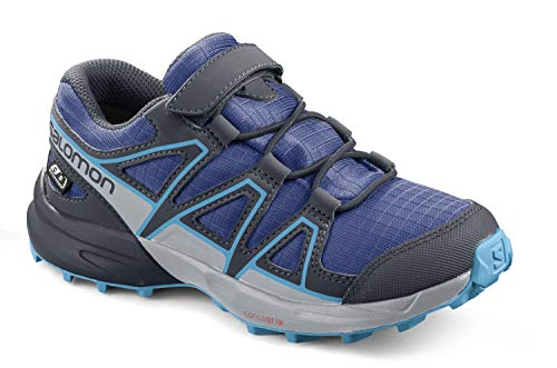 SALOMON Kinder Speedcross CSWP K, Blau (Surf The Web/Navy Blazer/Ethereal Blue), 30 EU