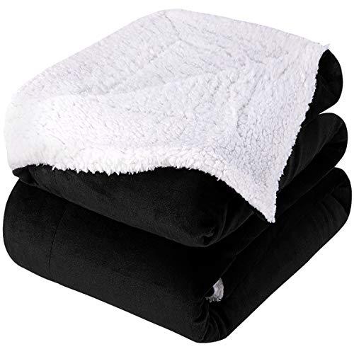 HOMEIDEAS Super Warm Sherpa Blanket Queen/Full...