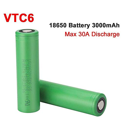 4Pcs Vtc6 18650 3000Mah Battery 3.7V 30A High Discharge 18650 Rechargeable Batteries for Us18650Vtc6 Flashlight Tools Battery