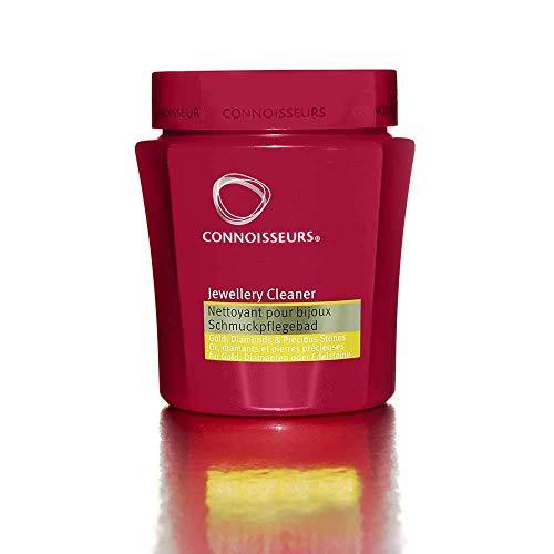 Connoisseurs Silberbad Reinigung – Flüssige Reinigungslösung für Schmuck, Gold, Platin, Diamanten & Edelsteine – Mit Wanne & Bürste – 250 ml