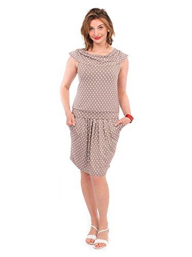 Viva la Mama Schwangerschaftsmode Kleid Sommer Stillkleid Umstandsmode festlich – Milano – Taupe - 4