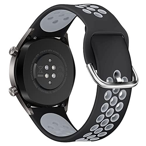 CGGA Per GT2 Cinturino in Silicone Cinturino per Huawei Watch GT 2 GT 46mm / GT 2E / Honor Band Magic Band Sport Bracciale da Polso 22mm Correa (Color : 3, Size : 22mm)