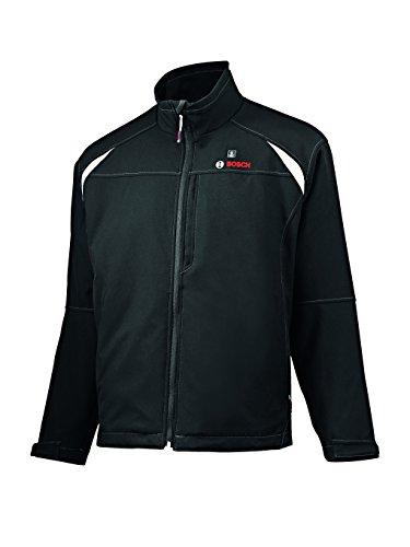 Bosch Professional (Herren)Heiz-Jacke Größe S (mit 12V Akku 2, 0 Ah (bis 6h Wärme), Ladegerät, beheizbare Softshell-Jacke Heat+ jacket)