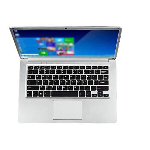 WXZQ Computadora portátil con Pantalla de Alta definición Computadora Exquisita Computadora portátil con Velocidad de Respuesta rápida Plata EU