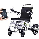 silla de ruedas Silla de ruedas eléctrica automática inteligente multifunción Silla de ruedas eléctrica plegable Gps completamente automática, para una persona discapacitada Silla d