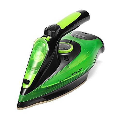 ASKLKD Ropa de Mano Steamer Portátil Portátil Plancha 2400W Potente Ajuste de 5 velocidades Viaje de Ajuste para Llevar el generador de Vapor (Color : Green)