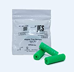 """Three aligner tray seater per bag Individual tamper-proof bags, hygienic and easy to use Helps with the seating of clear aligner trays and Invisalign aligners Size: 1.375"""" long x .4375"""" wide Made in USA"""