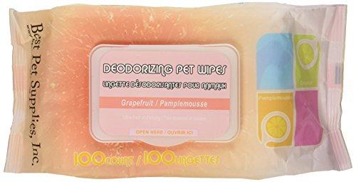 Best Pet Supplies 100-Piece Pet Wet Wipes, Grapefruit