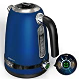 GREECHO Electric Kettle Temperature Control, 1.7L Hot Water Kettle with LED Display & 7 Heat Settings (Boil & Keep Warm), 304 Stainless Steel Tea Kettle Offers Overheat & Boil-Dry Protection (1100W)