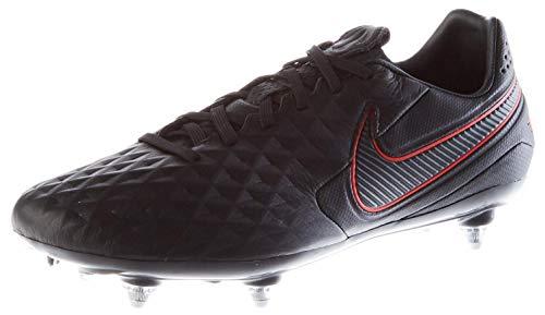 Nike Unisex-Adult Tiempo Legend 8 Pro SG Soccer Shoe, Black/Dark Smoke Grey-Chile Red-Chile Red, 45 EU