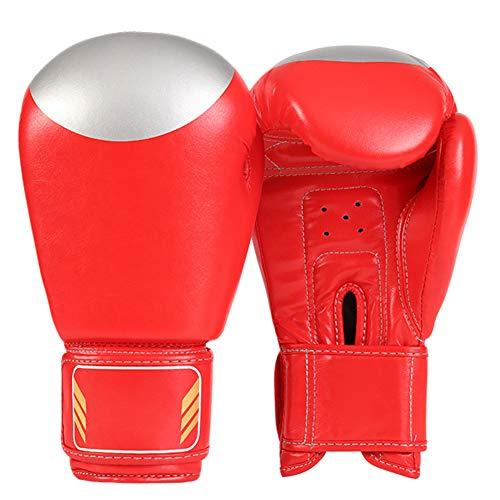 Guantes de Boxeo,Guantes de Boxeo para Hombres Mujeres Cuero Más Acolchado Saco de Boxeo para Kickboxing, Sparring, Muay Thai y Heavy Bag,2
