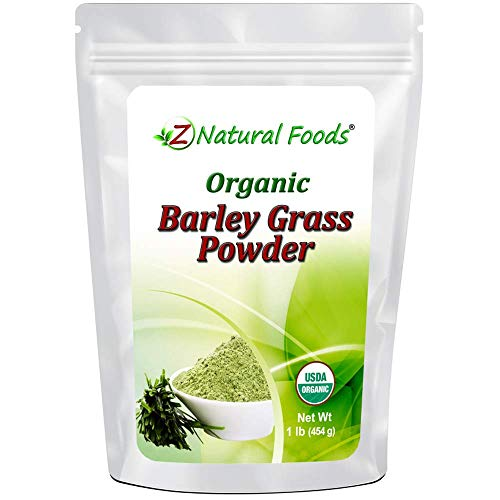 Organic Barley Grass Powder - Green Superfood Supplement for Drinks, Juice, Shakes, Smoothies, Recipes - All Natural Vitamins, Minerals & Antioxidants - Raw, Vegan, Non GMO, Kosher - 1 lb