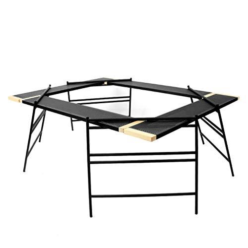 AQUYY Outdoor Opvouwbare Barbecue Tafel, Draagbare Multifunctionele Splicing Net Tafel, Geschikt voor Camping, Camping, Vissen, Makkelijk schoon te maken