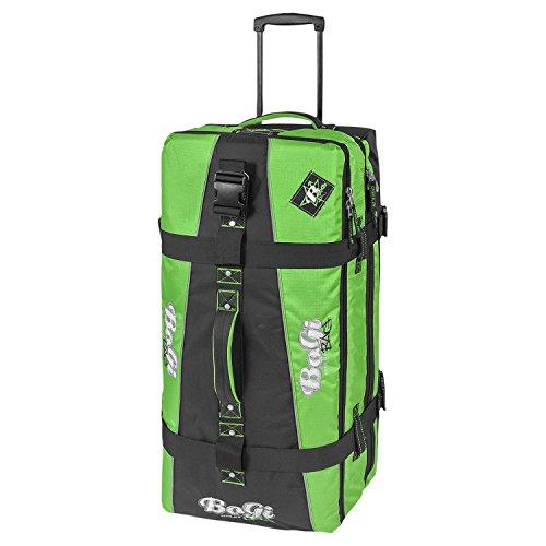Bogi Bag Travel Suitcase Duffle Bag / Trolley 82 cm GREEN BLACK 110 Liters 3 packing areas