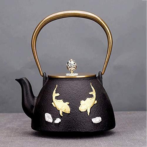 Tea Pot, Japanese Cast Iron Tea Kettle, Small Easy Pour Handmade Retro Tea Maker for Tea House Office Home, 1000ml