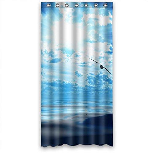 Relax sol Cruz blanco azul cielo pájaros volando sobre el mar resistente al agua cortina de ducha diferentes tamaños