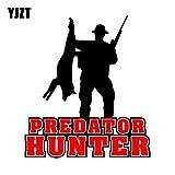 JYIP 13,6 CM * 15,2 CM Predator Hunter Wolf Fox Coyote Caza PVC Motocicleta Coche Pegatina 11-00354