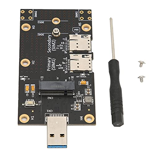 Adaptador M.2 a USB 3.0, Adaptador M.2 a USB 3.0 Conector de Empuje para Ranura para Tarjeta SIM Dual Módulo 3G/4G/5G para Computadora