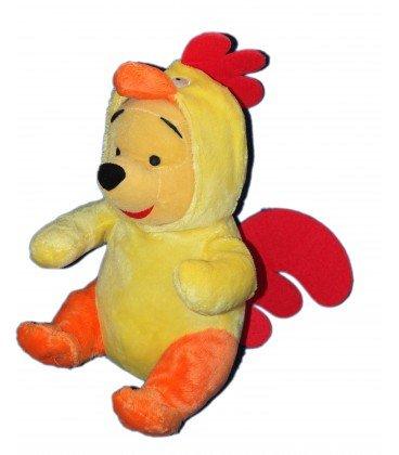 Doudou peluche Winnie the Pooh disfrazado de gallo–Disney Nicotoy pts SRL–H 32cm
